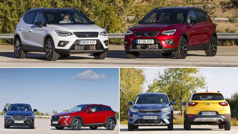 Comparativas SUV: Seat Arona, Kia Stonic y Mazda CX-3, ¿Diesel o gasolina?