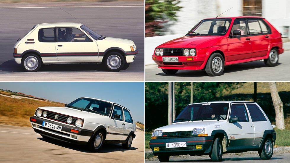 Los 10 coches deportivos GTI más emblemáticos de los años 80