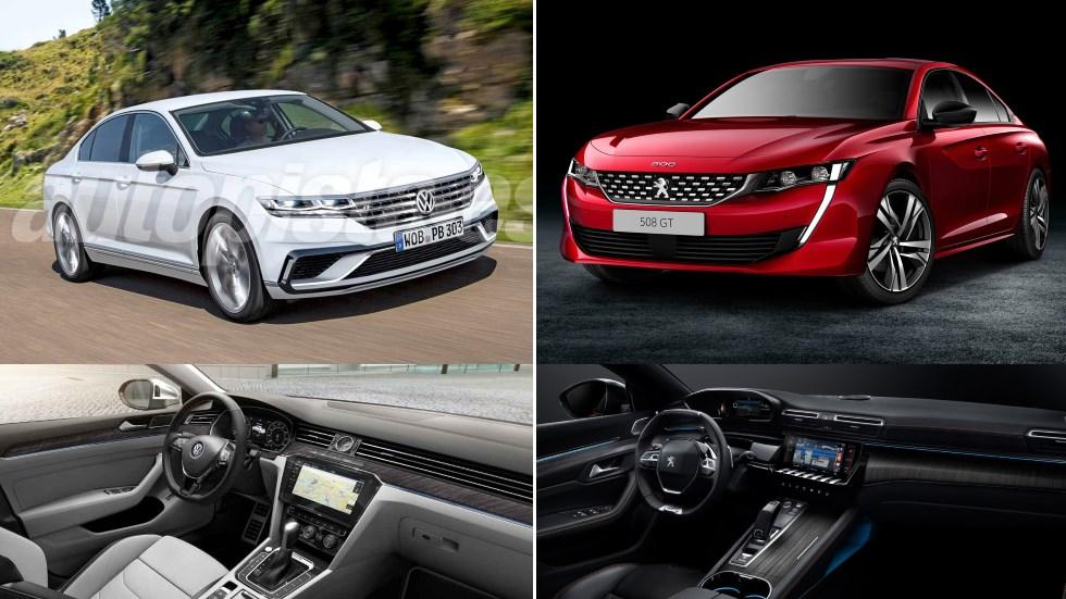 Peugeot 508 vs VW Passat 2018: el duelo por ser berlina del año
