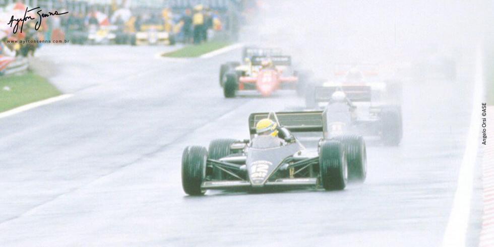 """Ayrton Senna: el día que """"bailó"""" bajo la lluvia"""