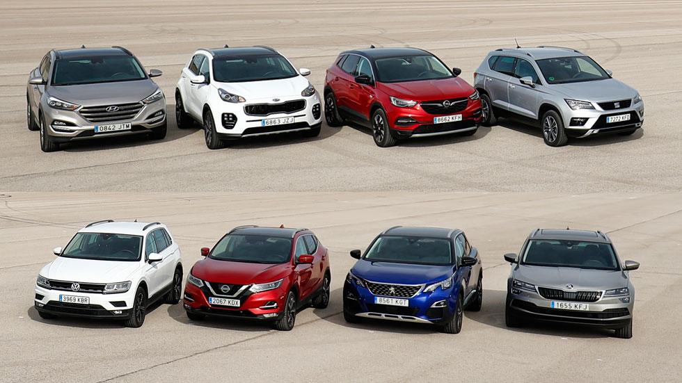 Elegimos al mejor SUV: Tucson, Sportage, Qashqai, 3008, Ateca, Karoq, Tiguan y Grandland X
