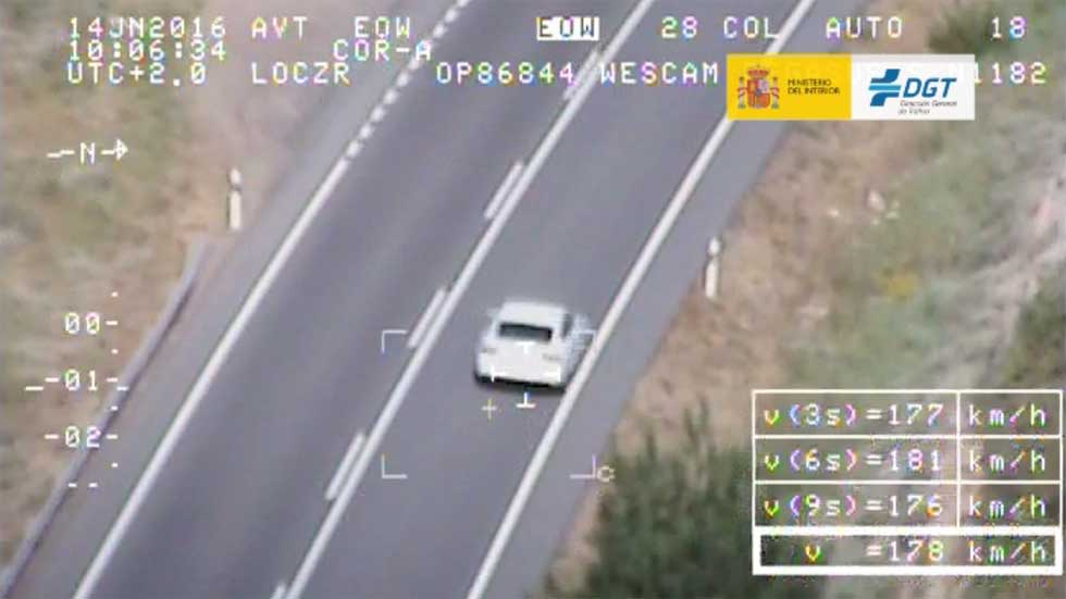 Campaña de exceso de velocidad de abril de la DGT, más de 20.000 multas (vídeo)