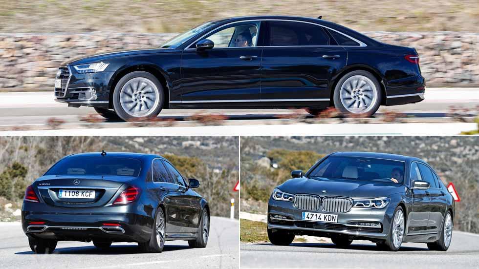 Audi A8, BMW Serie 7 y Mercedes Clase S: ¿cuál es la mejor berlina del mundo?