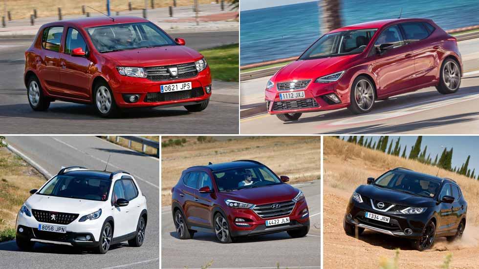 Los 10 coches y los 10 SUV más vendidos en abril en España