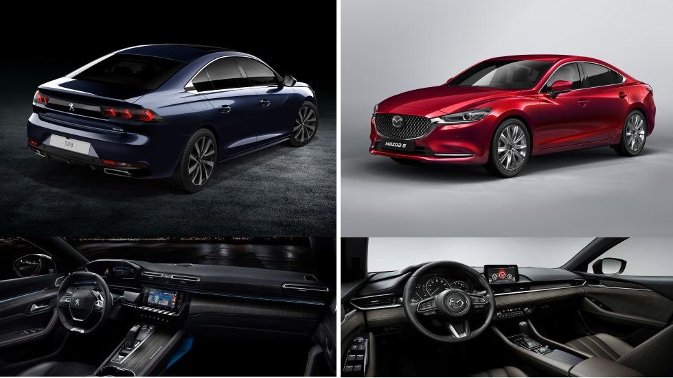 Nuevo Mazda 6 vs Peugeot 508 2018: ¿qué nueva berlina es mejor?
