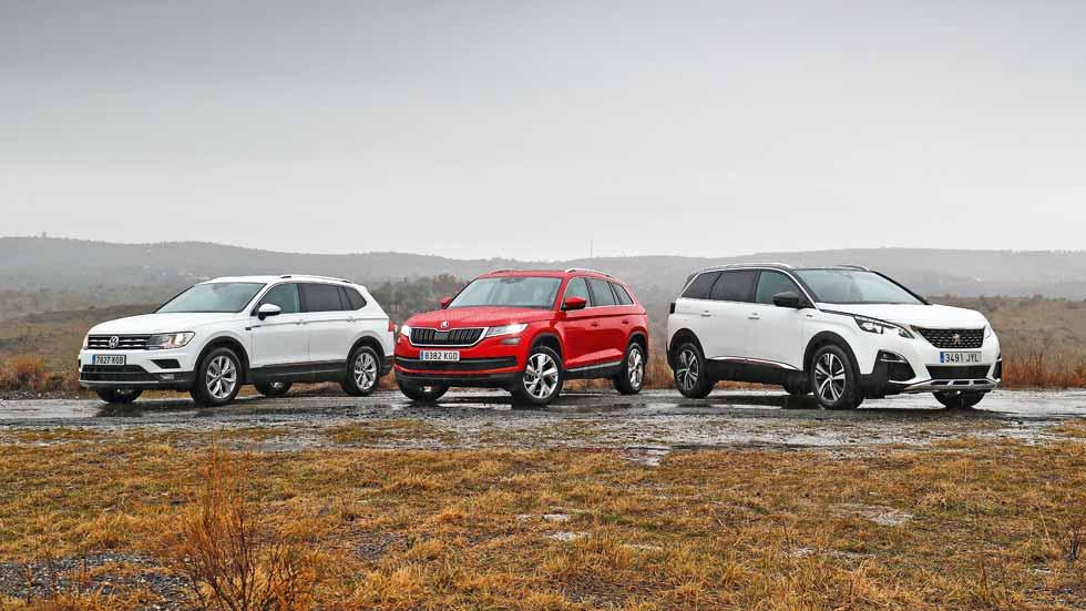 Peugeot 5008, Skoda Kodiaq y VW Tiguan Allspace: ¿qué SUV Diesel de 7 plazas es mejor?