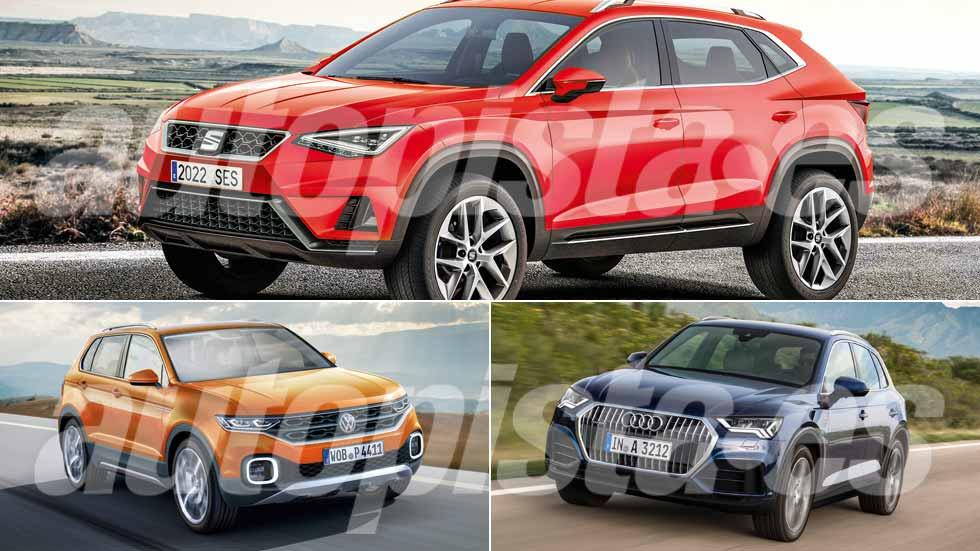 Seat Tarraco, Audi Q3 y VW T-Cross: así serán los nuevos SUV que vienen