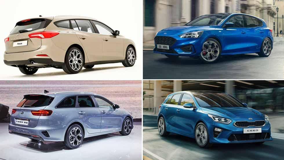 Ford Focus vs Kia Ceed: el gran duelo de nuevos compactos en 2018