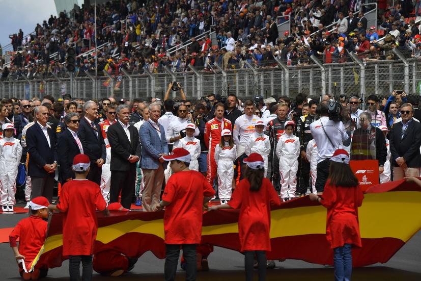La RFEDA consideró inapropiado el himno catalán en el GP de España de F1