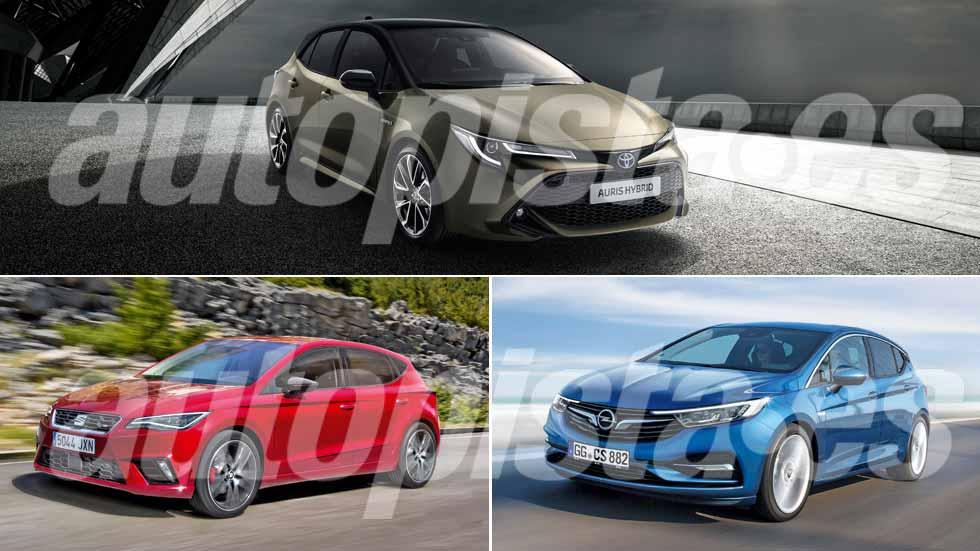 Toyota Auris, Seat León y Opel Astra: así serán los nuevos compactos que llegarán en 2019