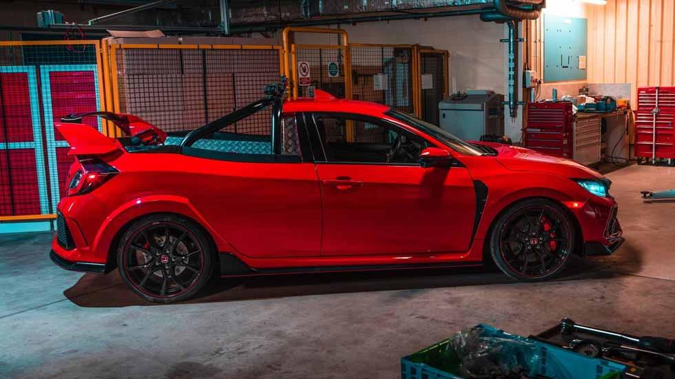 Ver para creer: así es un Honda Civic Type R convertido en pick-up