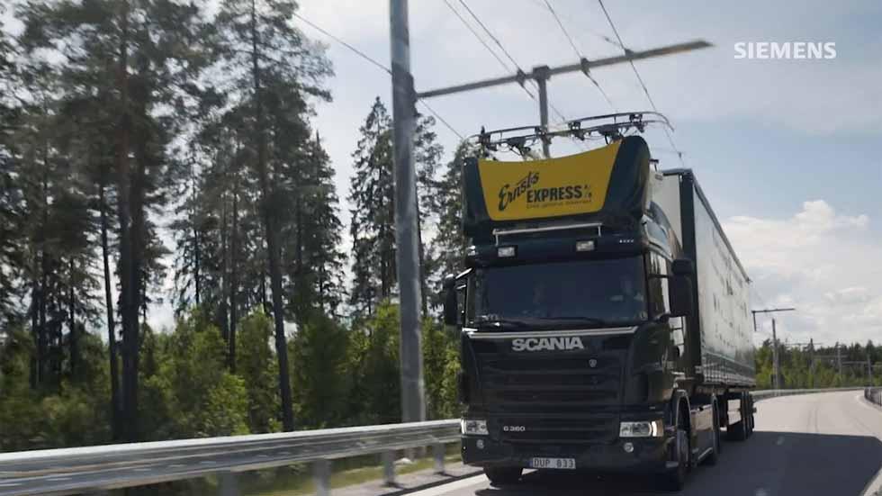 Así son las carreteras eléctricas para camiones que llegarán en 2019 (Vídeo)