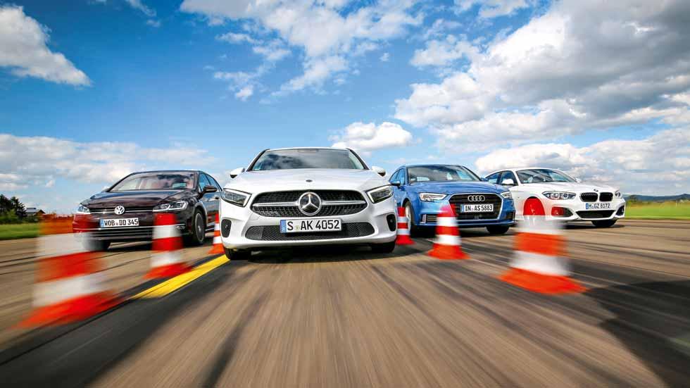 Revista Autopista 3056: el nuevo Clase A frente a BMW Serie 1, Audi A3 y VW Golf