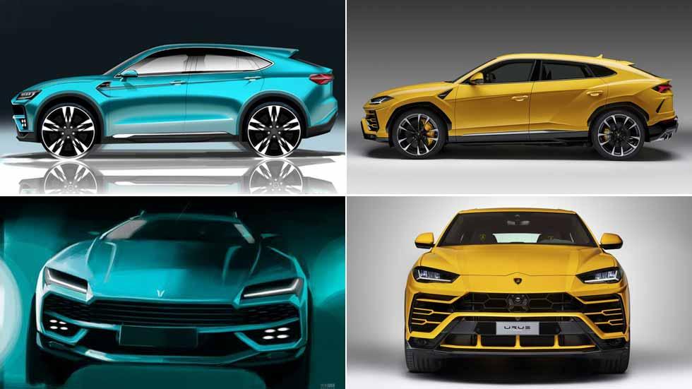 Lo último en copias chinas de coches: el Lamborghini Urus, la nueva víctima