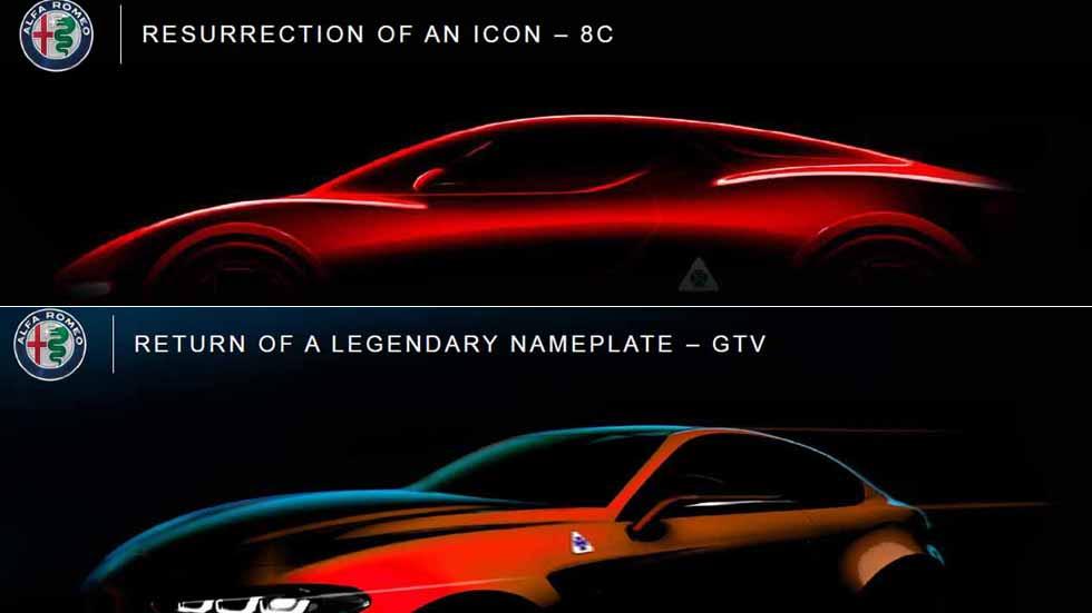 El futuro de Alfa Romeo: retorno del GTV y del 8C y dos nuevos SUV