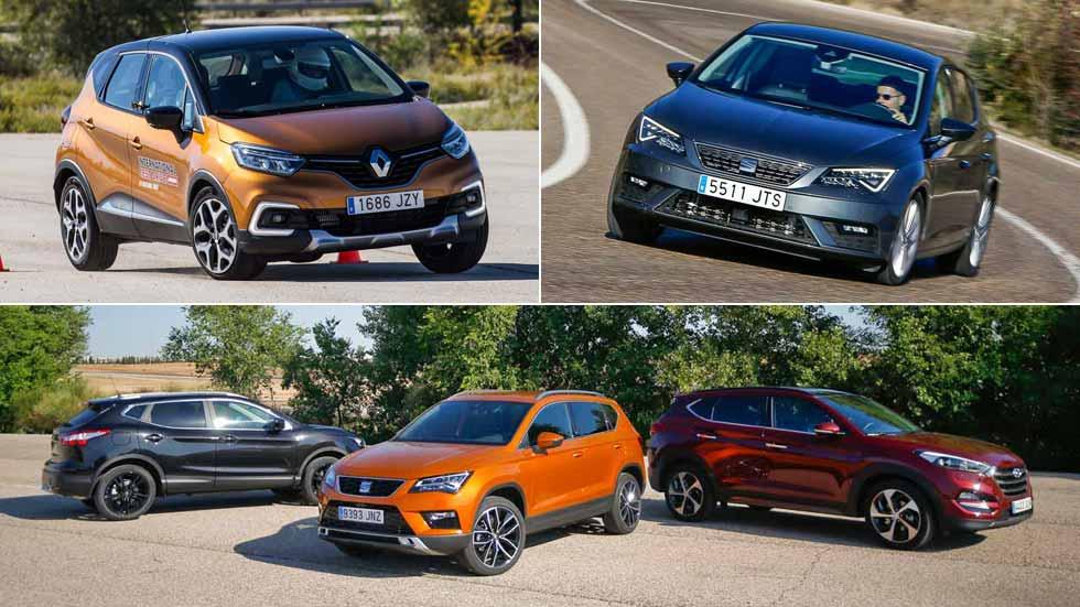 Los 10 coches y los 10 SUV más vendidos en mayo de 2018