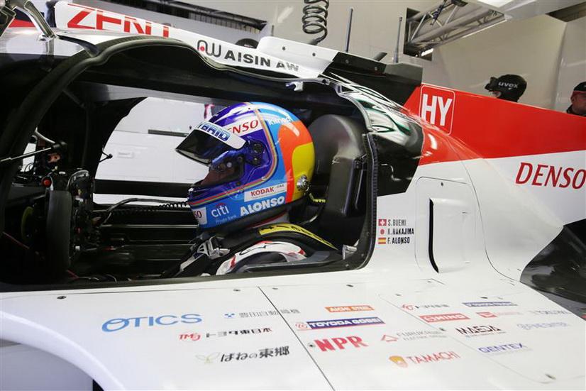 Fernando Alonso con el mejor tiempo en Le Mans