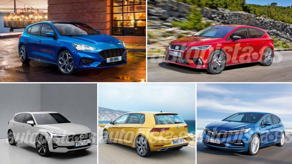 Los nuevos compactos que llegan en 2018 y 2019: Focus, León, Golf, V40, Auris…