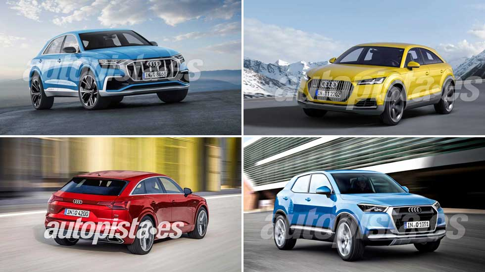 Más SUV en la familia Q de Audi: tras Q8, ¿Q1, Q4, Q6 y Q9?