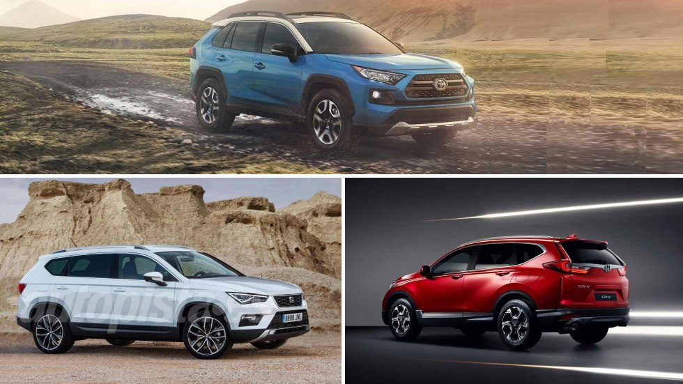 Honda CR-V 2018, Seat Tarraco y Toyota RAV4 2019: tres nuevos SUV, tres estilos