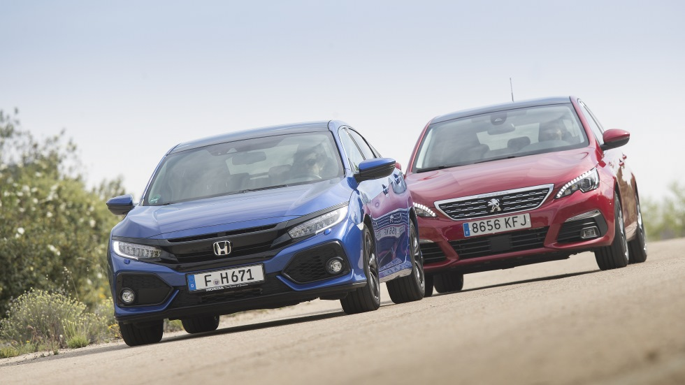 Comparativa: Honda Civic 1.6 i-DTEC vs Peugeot 308 1.5 BlueHDI