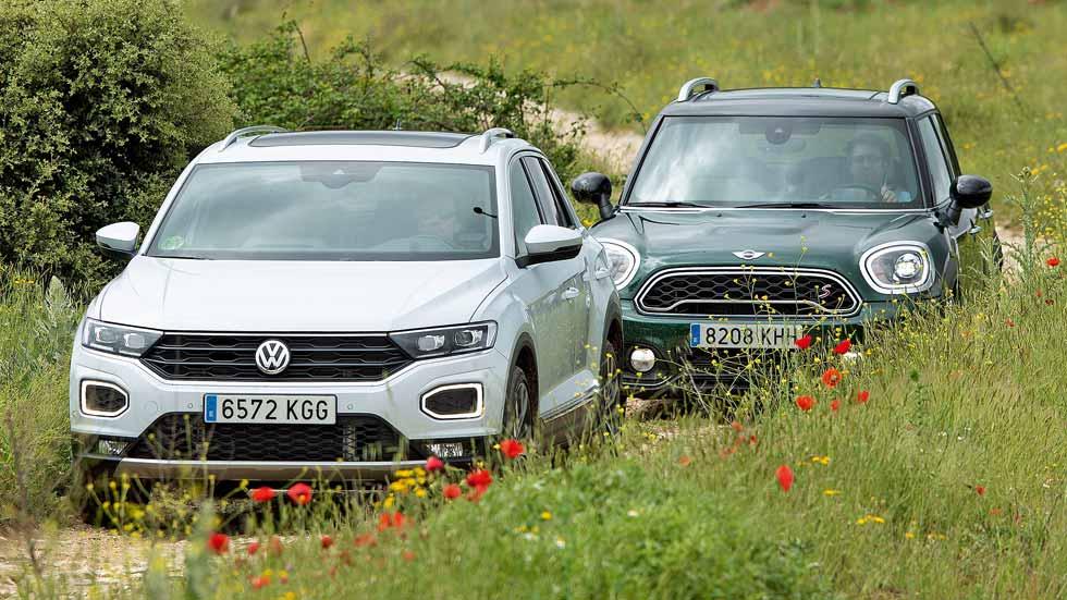 Mini Countryman y VW T-Roc: ¿qué SUV de gasolina es mejor?