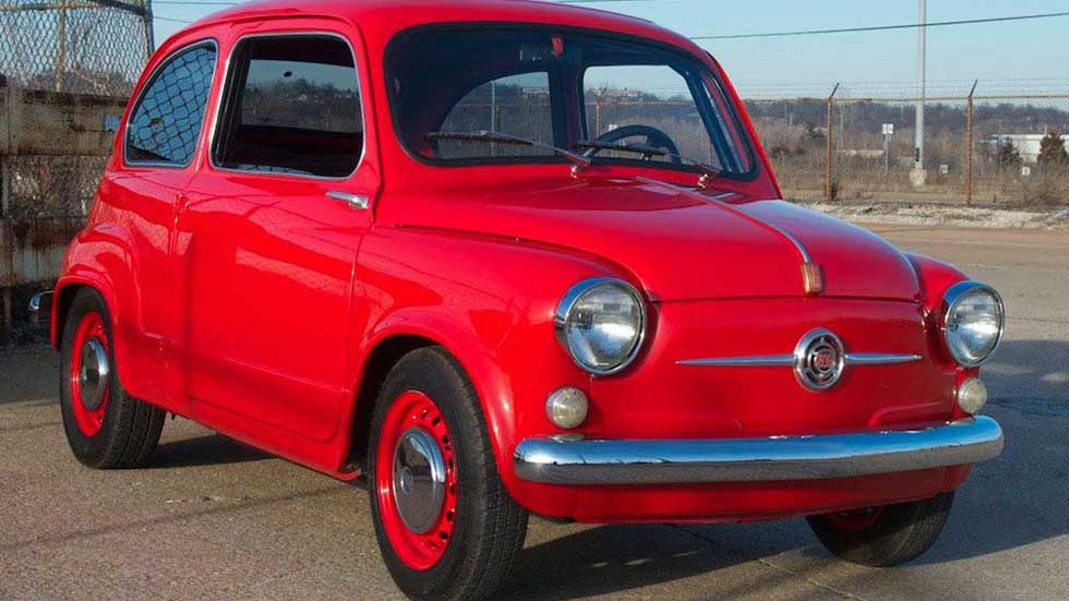 La loca historia de un Fiat 600 clásico con motor rotativo de Mazda (VÍDEO)