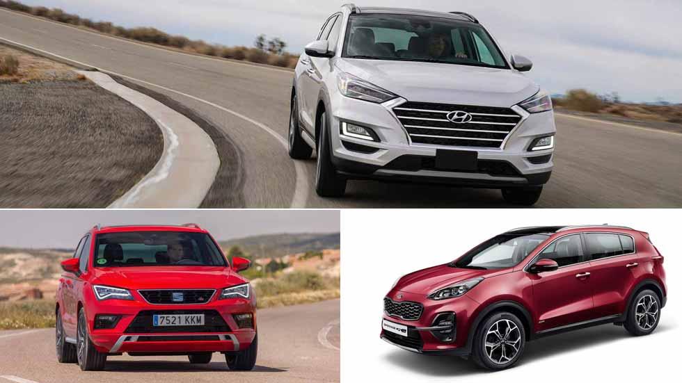 Nuevos Kia Sportage, Hyundai Tucson y Seat Ateca: ¿qué SUV es mejor?