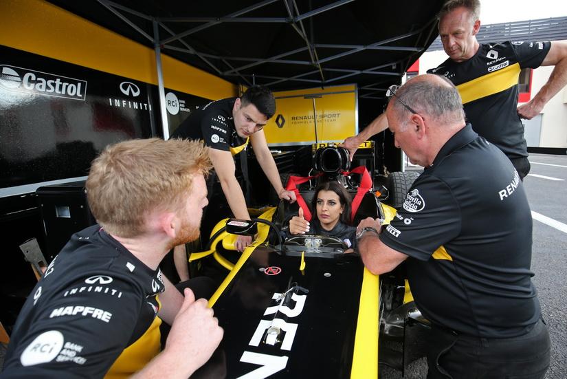GP de Francia de F1: una saudita al volante de un Renault de F1