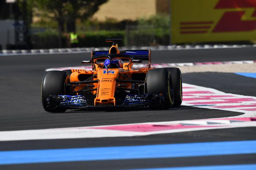 GP de Francia de F1: Alonso abandona por una rotura de suspensión