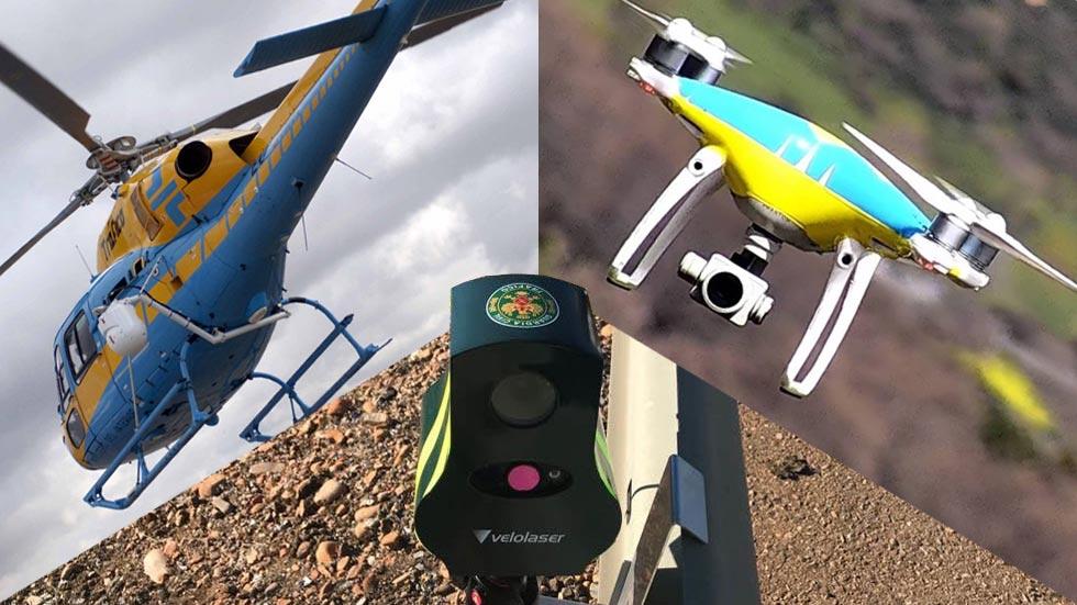 10 Pegasus y 5 drones para la operación especial de la DGT este verano