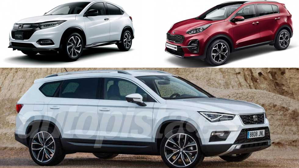 Honda HR-V 2019, Kia Sportage 2018 y Seat Tarraco: ¿los nuevos líderes SUV?