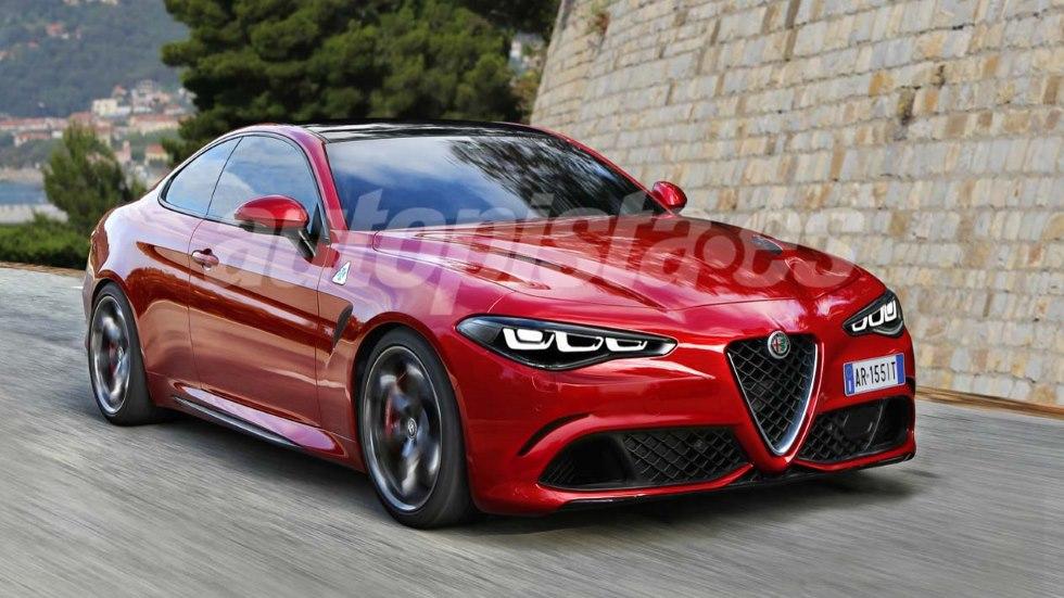 """Alfa Romeo GTV: así será el esperado nuevo """"Giulia"""" coupé"""
