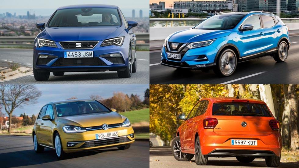 Los 10 coches y los 10 SUV más vendidos en junio de 2018