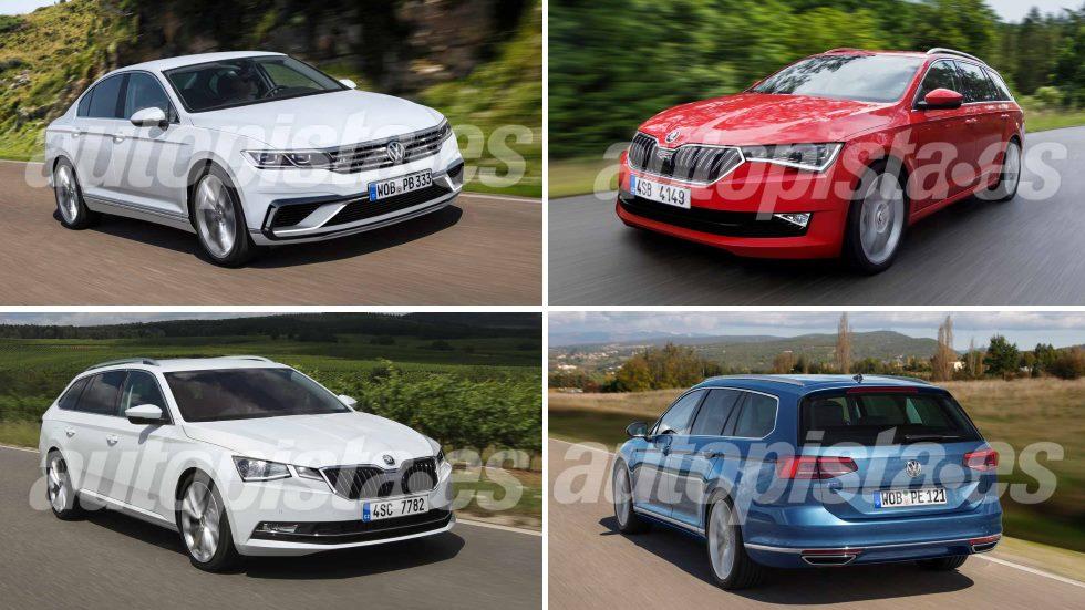 Skoda Octavia 2020 vs VW Passat 2019: las nuevas berlinas que vienen