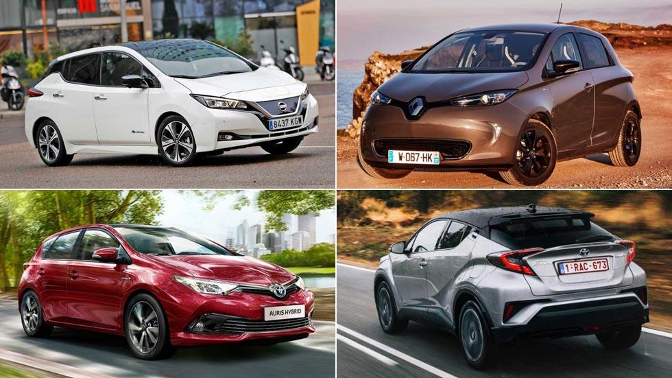 Los coches híbridos y eléctricos más vendidos del mercado