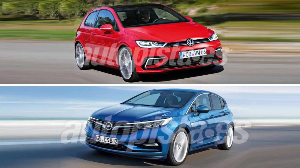Opel Astra 2019 vs VW Golf 2019: el líder compacto ante su eterno aspirante