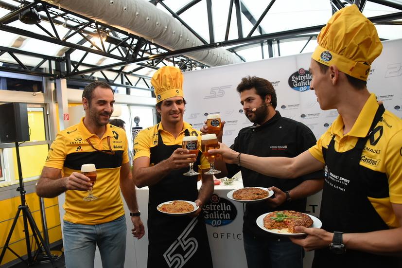 GP de Gran Bretaña: el cocinero Carlos Sainz