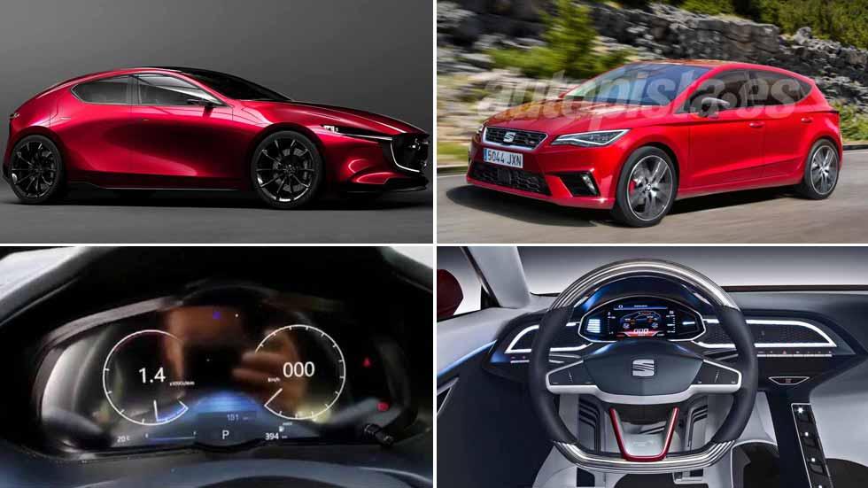 Nuevos Mazda3 y Seat León 2019: ¡a por el Golf VIII!