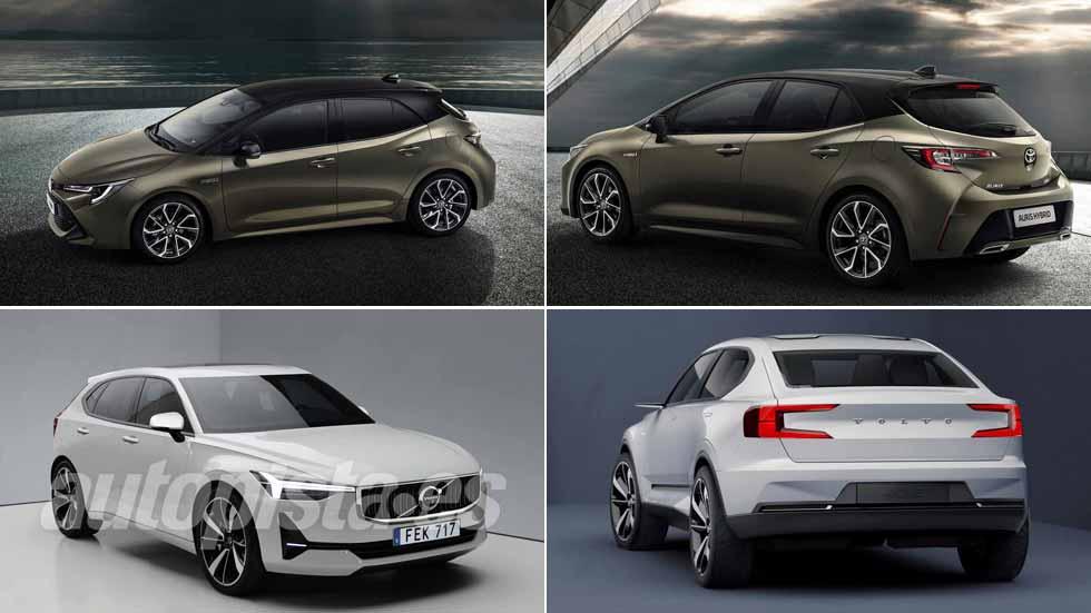 Toyota Auris y Volvo V40 2019: todas las claves de los nuevos dos compactos