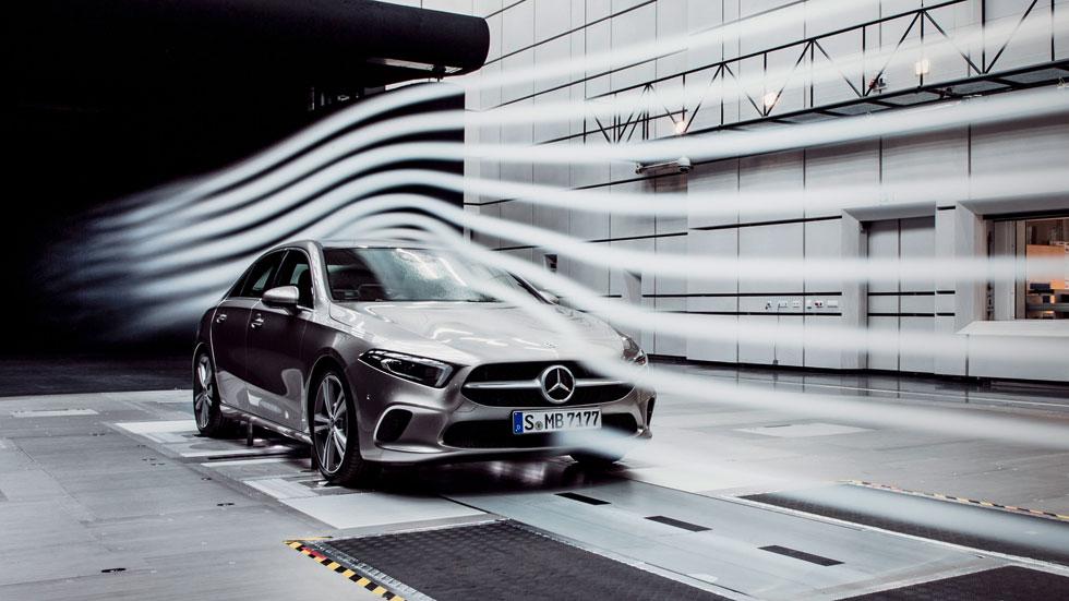 El Mercedes Clase A Sedán 2019, el coche con mejor aerodinámica del mundo