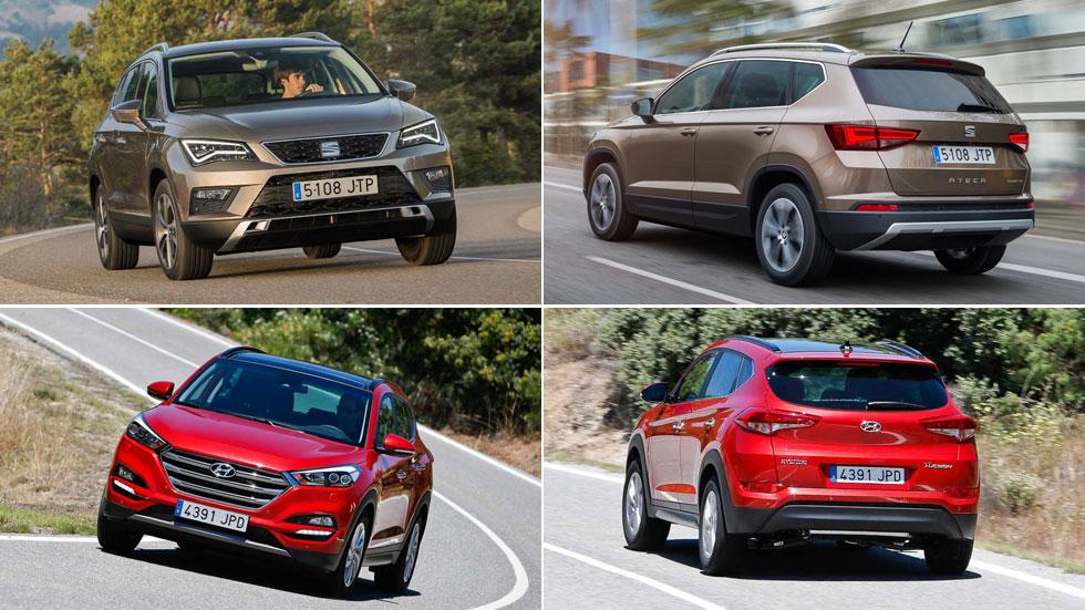 ¿Te gustan los SUV? Los Hyundai Tucson y Seat Ateca, por menos de 18.000 euros