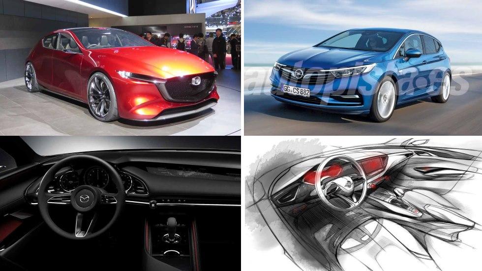 Nuevos Mazda3 vs Opel Astra: gran duelo de compactos que llegan en 2019