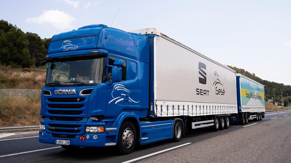 El duotráiler de Seat, el camión más grande y eficiente en Europa (VÍDEO)