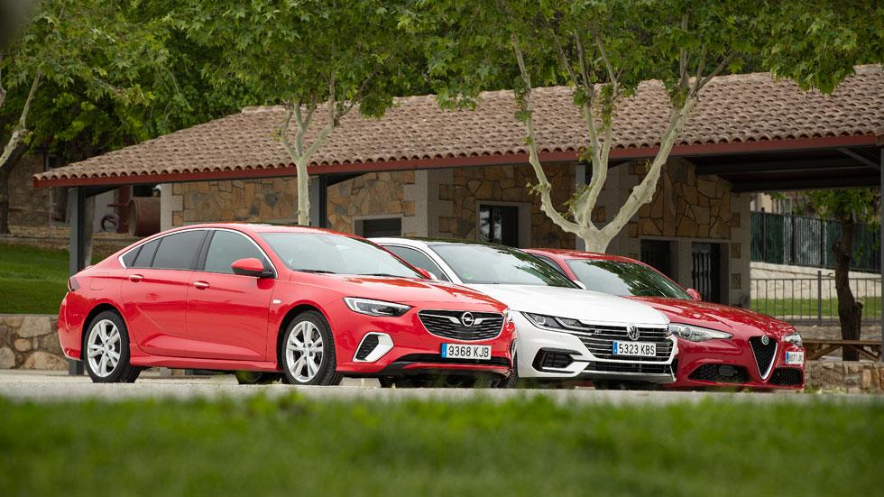 Comparativa: Alfa Giulia Veloce, Opel Insignia GSi y VW Arteon TSi