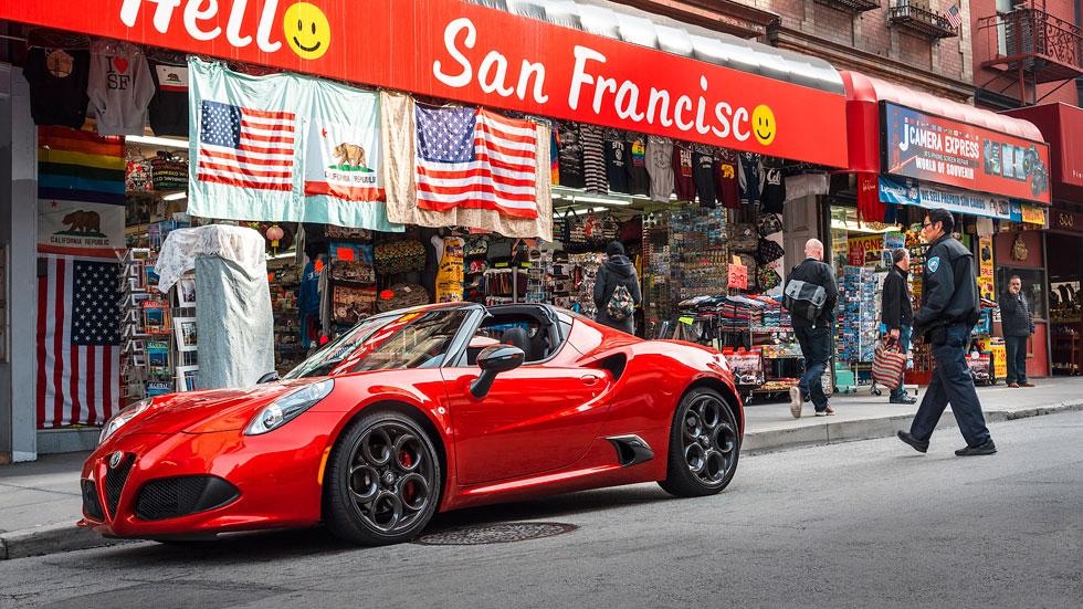 Alfa Romeo 4C Spider, prueba y viaje por San Francisco
