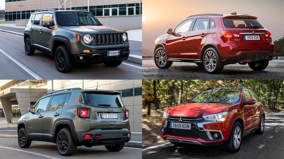 Jeep Renegade y Mitsubishi ASX: nuevos SUV, por menos de 15.000 euros