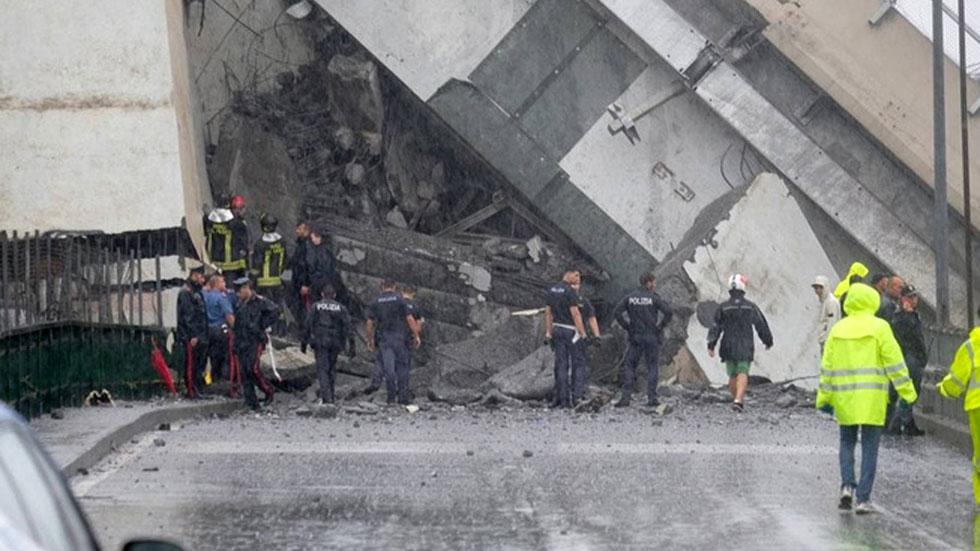 Tragedia en Génova: se derrumba un gran puente de una autopista
