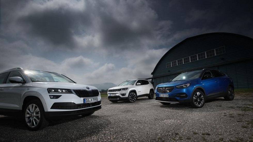Comparativa SUV: Jeep Compass, Opel Grandland X y Skoda Karoq, ¿el mejor?