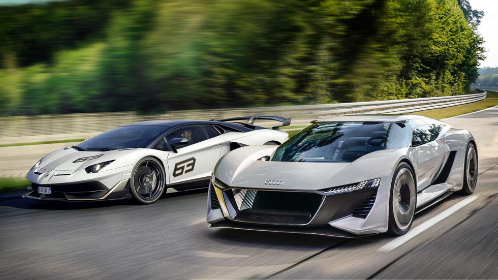 Duelo de superdeportivos: Audi PB18 e-tron Concept  vs Lamborghini Aventador SVJ